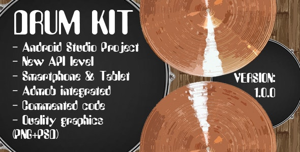 Drum Kit + Admob Ads - CodeCanyon Item for Sale