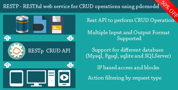 RESTp - RESTful web service for performing CRUD operations