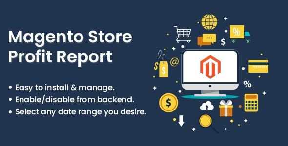 Magento Store Profit Report