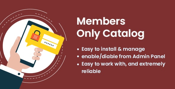 Members Only Catalog - CodeCanyon Item for Sale
