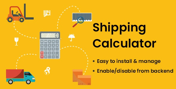 Shipping Calculator - CodeCanyon Item for Sale
