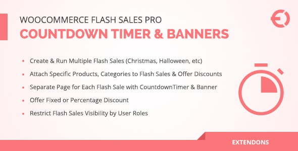 WooCommerce Flash Sales Pro - Countdown Timer & Banners - CodeCanyon Item for Sale