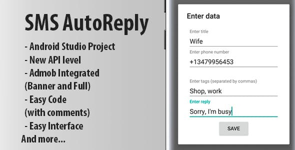 Autoreply app + Admob Ads