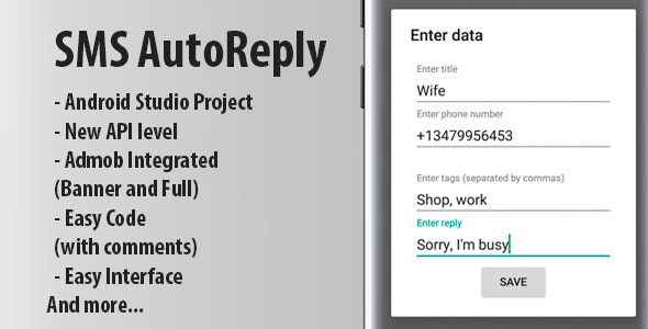 Autoreply app + Admob Ads - CodeCanyon Item for Sale