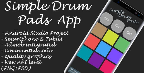 Simple Drum Pads + Admob Ads