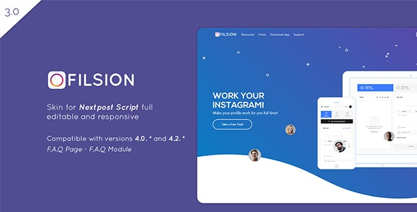 Filsion Skin - Nextpost Instagram Media Planner Skin - CodeCanyon Item for Sale