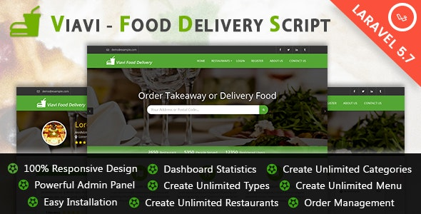 Viavi - Food Delivery Script - CodeCanyon Item for Sale