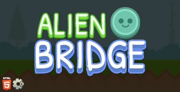 Alien Bridge - Bridge Game Template - Construct2