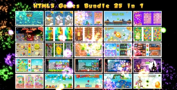 25 HTML5 GAMES BUNDLE №1 (Construct 3 | Construct 2 | Capx)