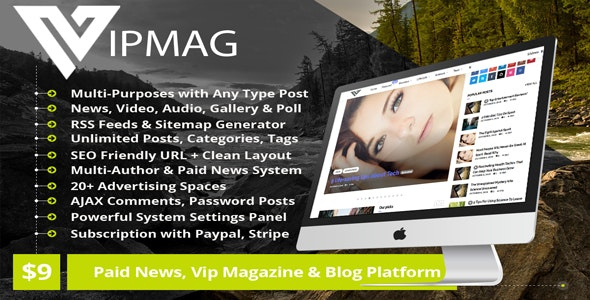 VipMag – Powerful News Script, VIP Blog Software & Magazine Platform with Subscription - CodeCanyon Item for Sale