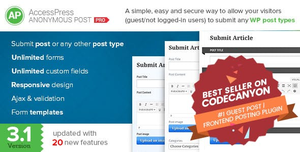 WordPress Guest Post Plugins, Code & Scripts from CodeCanyon