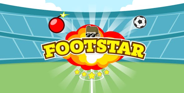 Footstar - HTML5 game. Construct 2 | AdSense | mobile control