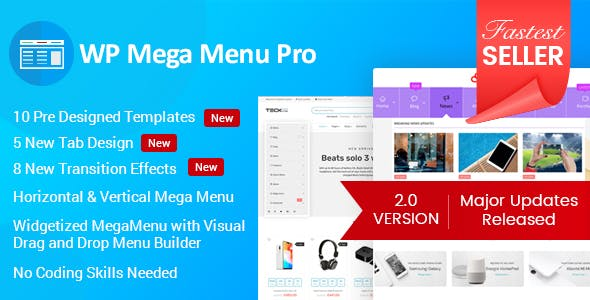 WP Mega Menu Pro - Responsive Mega Menu Plugin for WordPress        Nulled