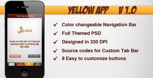 Yellow Themed App