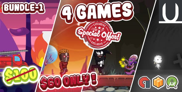 Mega Bundle 4 Games Part 1 (Android Studio+BBDOC+Assets)