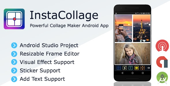 InstaCollage - Full Collage Maker Android Application + Admob and OneSignal Integration - CodeCanyon Item for Sale