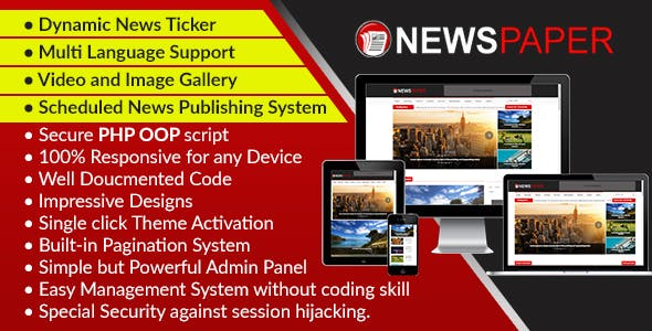 Newspaper - Responsive News, Magazine and Blog CMS Script