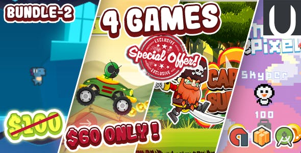 Mega Bundle 4 Games Part 2 (Android Studio+BBDOC+Assets)