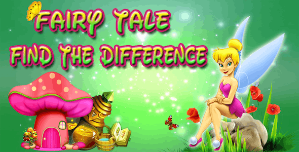 Find The Difference Fairy Princess - Spot It Android Studio Game(Chartboost + Admob + Applovin)