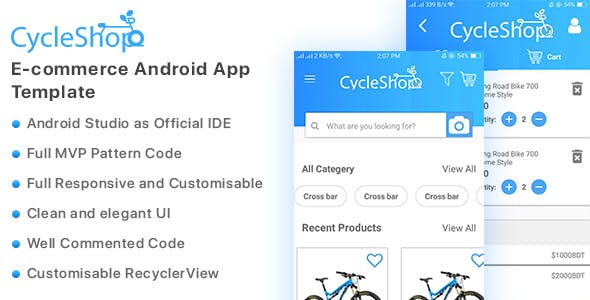 Cycleshop - E-commerce Android App Template
