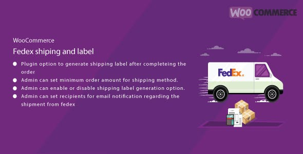 WordPress WooCommerce FedEx Shipping and Label Plugin