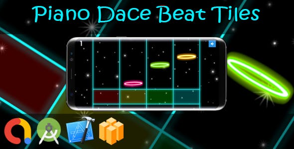 Piano Dance Beat Tiles (BBDOC + iOS Xcode 10 + Android Studio + Admob + GDPR + API 27 + Eclipse)