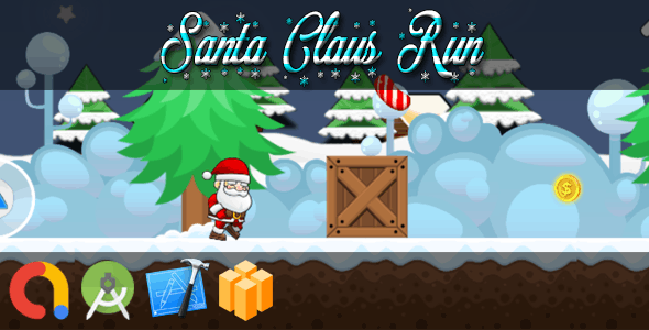 SANTA CLAUS RUN (BBDOC + iOS Xcode 10 + Android Studio + Admob + GDPR + API 27 + Eclipse)