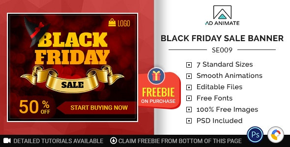 Shopping & E-commerce | Black Friday Sale Banner (SE009) - CodeCanyon Item for Sale