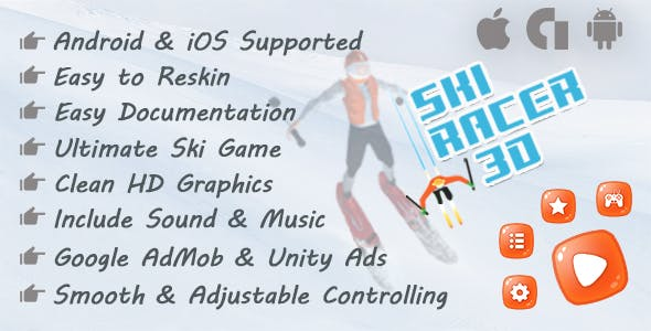 Ski Racer Unity 3D Game (Android & IOS)