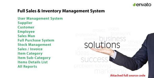Full Sales & Inventory Solution System With full source code