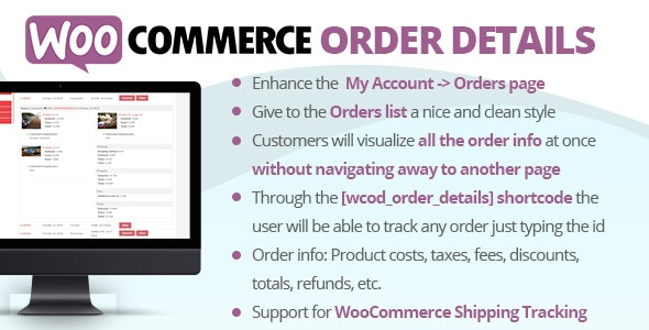 WooCommerce Order Details - CodeCanyon Item for Sale
