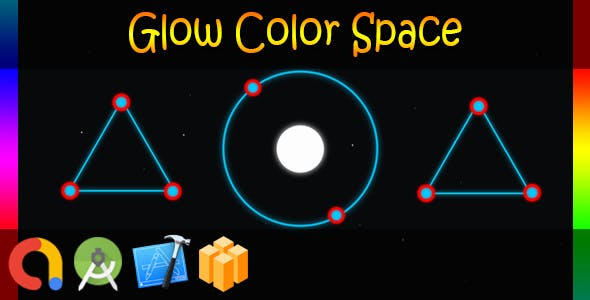 Glow Color Space (Buildbox + iOS Xcode 10 + Android Studio + Admob + GDPR Support + API 27 +Eclipse)
