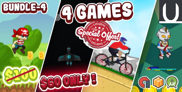 Mega Bundle 4 Games Part 4 (Android Studio+BBDOC+Assets)