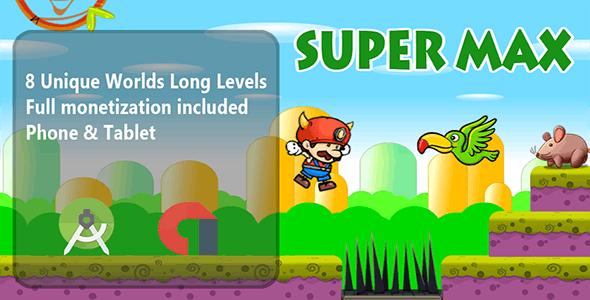 Super Max World Android Studio Template + Admob