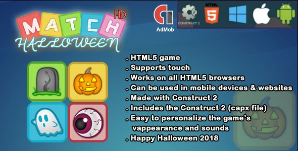 Halloween Match 3 - CodeCanyon Item for Sale