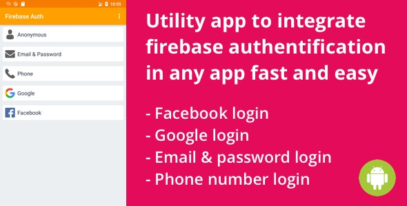 Firebase - Login and Register with Email, Facebook and