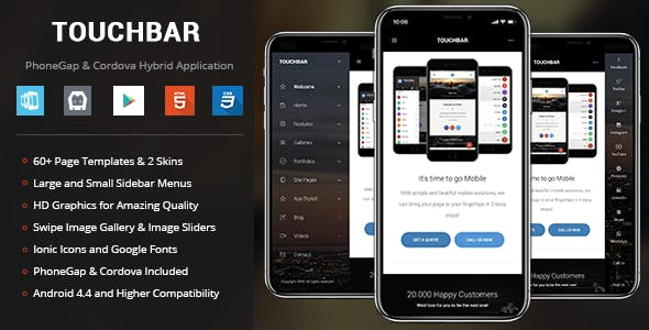 TouchBar | PhoneGap & Cordova Mobile App