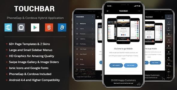TouchBar | PhoneGap & Cordova Mobile App - CodeCanyon Item for Sale
