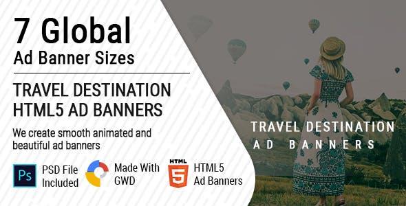 Travel Destination Ad Banners