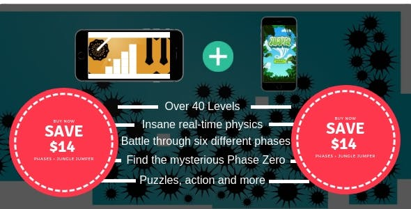 Phases + Jungle Jumper | Android IOS Game | High Graphics | Admob IAP