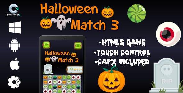 Halloween Match 3 - Html5 (CAPX)