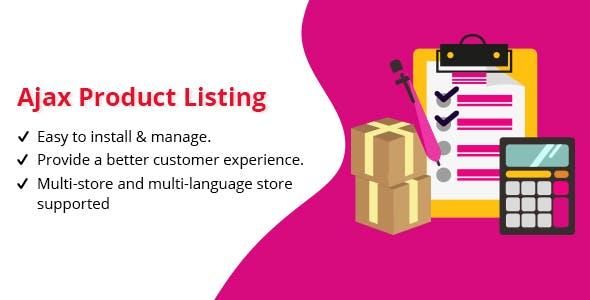 Ajax Product Listing