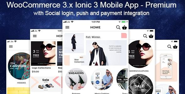 Woocommerce Mobile App Premium Theme Ionic 3 - CodeCanyon Item for Sale