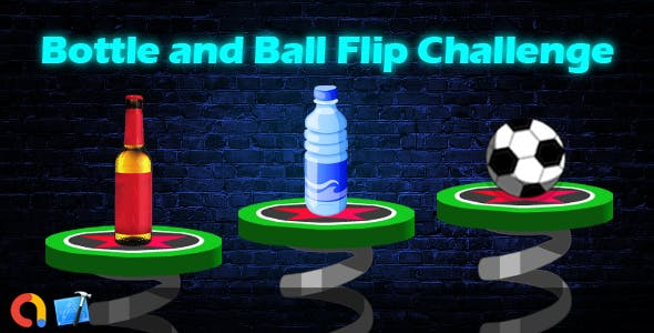 Flip Bottle and Ball Challenge - iOS Xcode 10