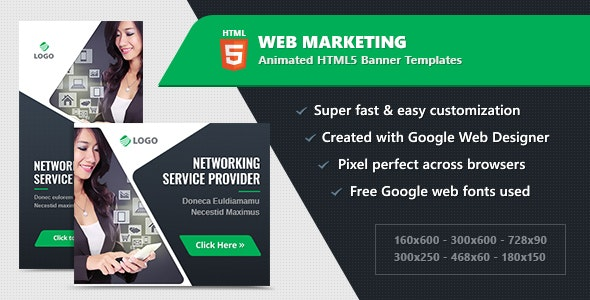 HTML5 Animated Banner Ads - Web Marketing (GWD) - CodeCanyon Item for Sale