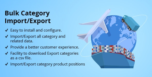Bulk Category Import/Export - CodeCanyon Item for Sale