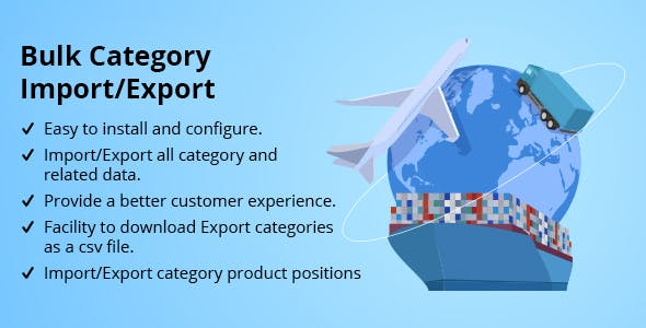 Bulk Category Import/Export