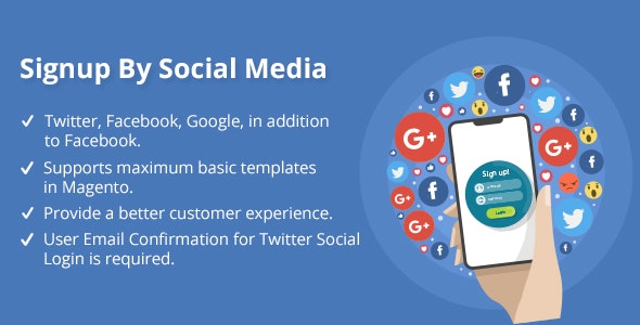 Signup By Social Media - CodeCanyon Item for Sale