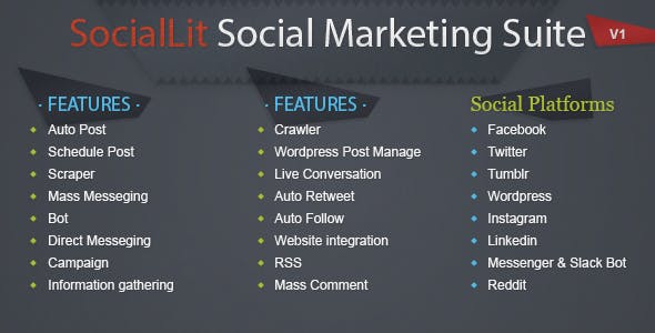 SocialLit - Social Marketing Suite