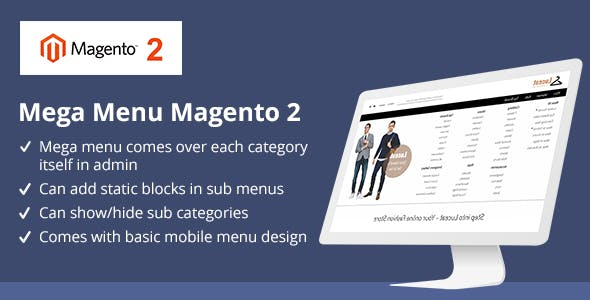 Mega-menu Magento 2 Plugins, Code & Script from CodeCanyon